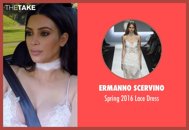 Ermanno Scervino white dress from Keeping Up With The Kardashians seen with Kim Kardashian West