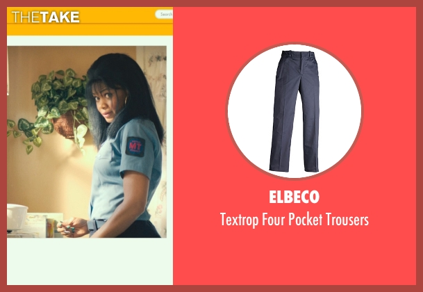 Elbeco blue trousers from Dope seen with Kimberly Elise (Lisa Hayes)
