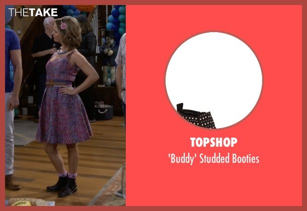 Topshop black booties from Fuller House seen with Kimmy Gibbler (Andrea Barber)