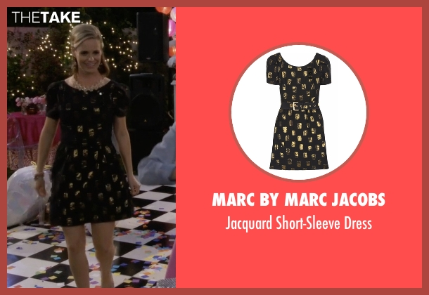 Marc by Marc Jacobs black dress from Fuller House seen with Kimmy Gibbler (Andrea Barber)
