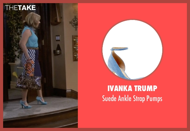 Ivanka Trump blue pumps from Fuller House seen with Kimmy Gibbler (Andrea Barber)