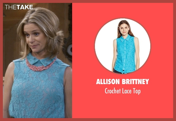 Allison Brittney blue top from Fuller House seen with Kimmy Gibbler (Andrea Barber)