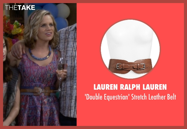 Lauren Ralph Lauren  brown belt from Fuller House seen with Kimmy Gibbler (Andrea Barber)