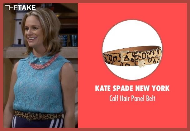 Kate Spade New York brown belt from Fuller House seen with Kimmy Gibbler (Andrea Barber)