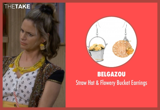 Belgazou earrings from Fuller House seen with Kimmy Gibbler (Andrea Barber)