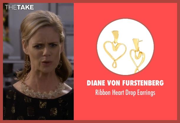 Diane Von Furstenberg gold earrings from Fuller House seen with Kimmy Gibbler (Andrea Barber)