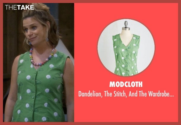 Modcloth green top from Fuller House seen with Kimmy Gibbler (Andrea Barber)