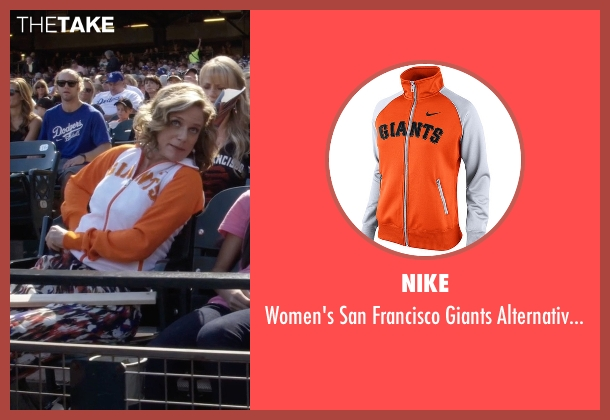 Nike  orange jacket from Fuller House seen with Kimmy Gibbler (Andrea Barber)