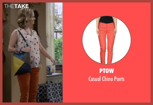 Pt0w orange pants from Fuller House seen with Kimmy Gibbler (Andrea Barber)