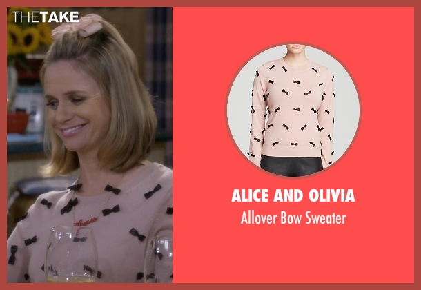Alice And Olivia pink sweater from Fuller House seen with Kimmy Gibbler (Andrea Barber)