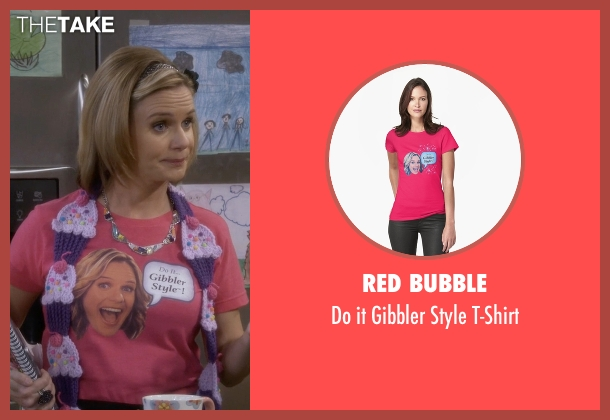 Red Bubble pink t-shirt from Fuller House seen with Kimmy Gibbler (Andrea Barber)