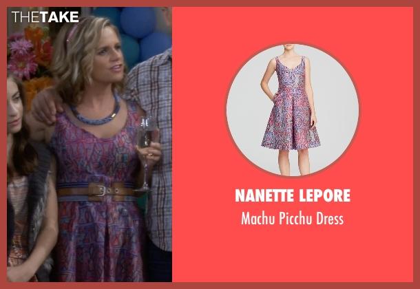 Nanette Lepore purple dress from Fuller House seen with Kimmy Gibbler (Andrea Barber)