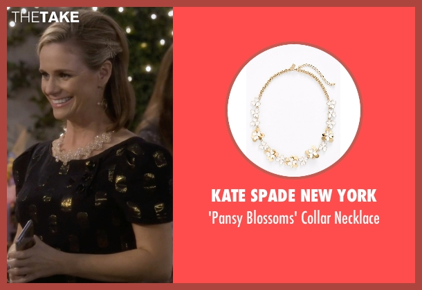 Kate Spade New York white necklace from Fuller House seen with Kimmy Gibbler (Andrea Barber)