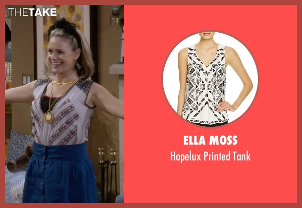 Ella Moss white tank from Fuller House seen with Kimmy Gibbler (Andrea Barber)