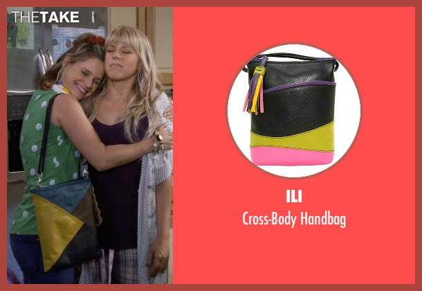 Ili yellow handbag from Fuller House seen with Kimmy Gibbler (Andrea Barber)