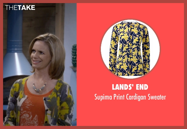 Lands' End yellow sweater from Fuller House seen with Kimmy Gibbler (Andrea Barber)