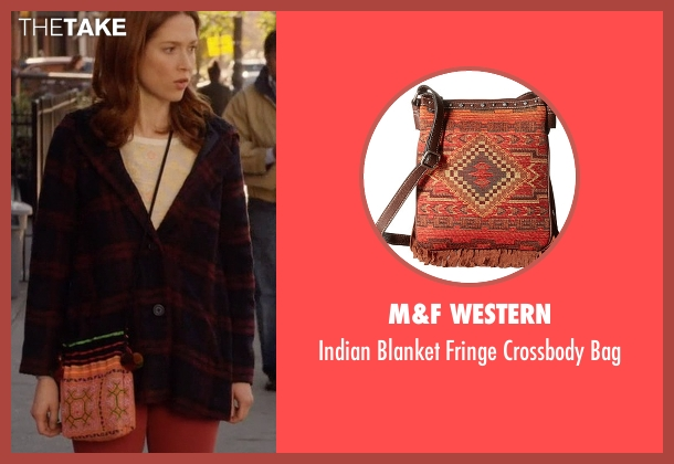 M&F Western bag from Unbreakable Kimmy Schmidt seen with Kimmy Schmidt (Ellie Kemper)