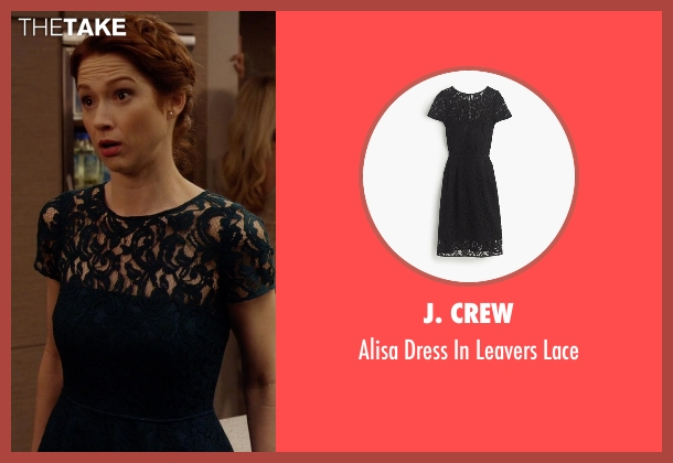 J. Crew black lace from Unbreakable Kimmy Schmidt seen with Kimmy Schmidt (Ellie Kemper)