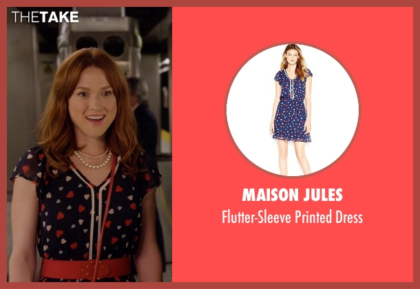 Maison Jules blue dress from Unbreakable Kimmy Schmidt seen with Kimmy Schmidt (Ellie Kemper)