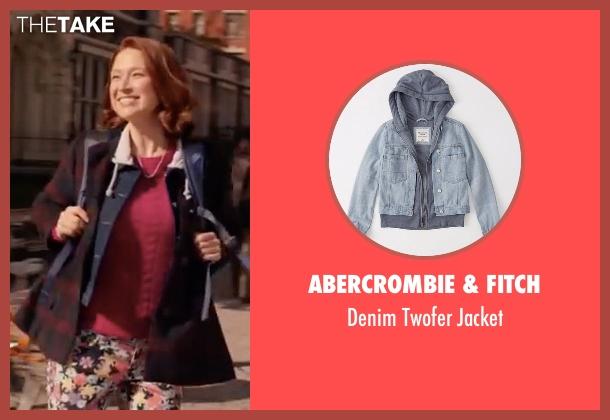 Abercrombie & Fitch blue jacket from Unbreakable Kimmy Schmidt seen with Kimmy Schmidt (Ellie Kemper)