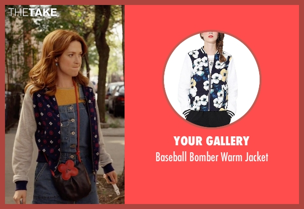 Your Gallery blue jacket from Unbreakable Kimmy Schmidt seen with Kimmy Schmidt (Ellie Kemper)