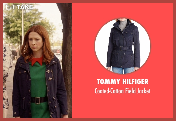 Tommy Hilfiger blue jacket from Unbreakable Kimmy Schmidt seen with Kimmy Schmidt (Ellie Kemper)