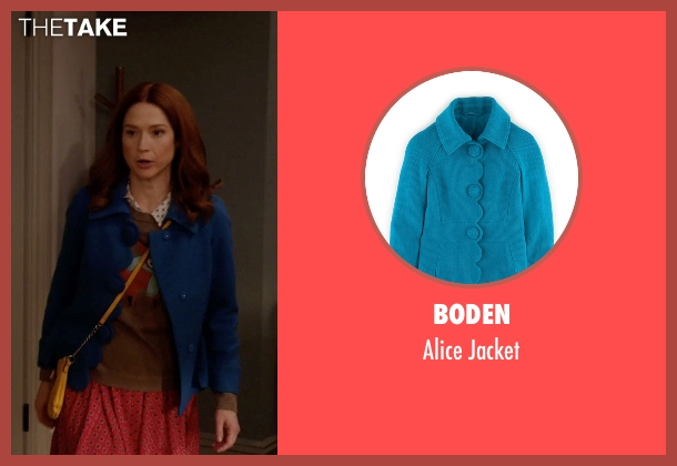Boden blue jacket from Unbreakable Kimmy Schmidt seen with Kimmy Schmidt (Ellie Kemper)