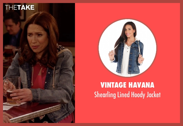 Vintage Havana blue jacket from Unbreakable Kimmy Schmidt seen with Kimmy Schmidt (Ellie Kemper)