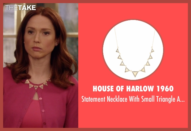 House Of Harlow 1960 gold accents from Unbreakable Kimmy Schmidt seen with Kimmy Schmidt (Ellie Kemper)