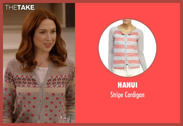 Hanui gray cardigan from Unbreakable Kimmy Schmidt seen with Kimmy Schmidt (Ellie Kemper)