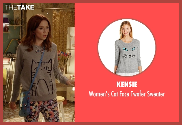 Kensie  gray sweater from Unbreakable Kimmy Schmidt seen with Kimmy Schmidt (Ellie Kemper)