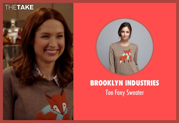 Brooklyn Industries gray sweater from Unbreakable Kimmy Schmidt seen with Kimmy Schmidt (Ellie Kemper)