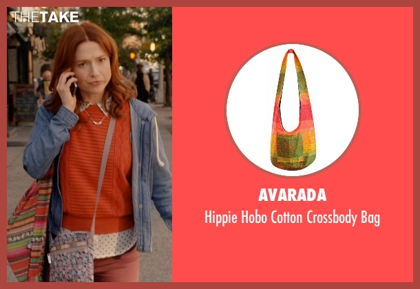 Avarada orange bag from Unbreakable Kimmy Schmidt seen with Kimmy Schmidt (Ellie Kemper)