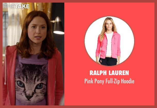 Ralph Lauren pink hoodie from Unbreakable Kimmy Schmidt seen with Kimmy Schmidt (Ellie Kemper)