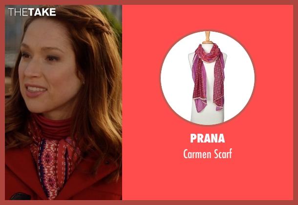 Prana pink scarf from Unbreakable Kimmy Schmidt seen with Kimmy Schmidt (Ellie Kemper)