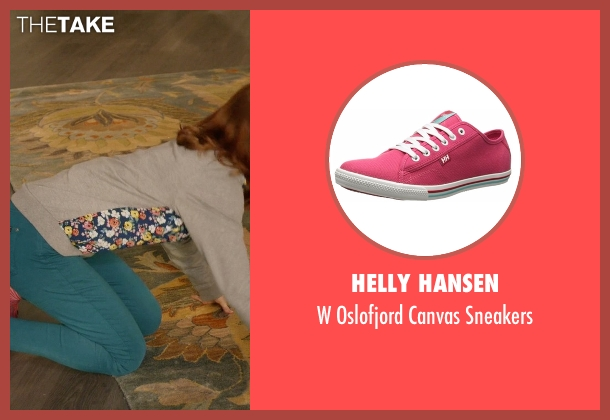 Helly Hansen pink sneakers from Unbreakable Kimmy Schmidt seen with Kimmy Schmidt (Ellie Kemper)