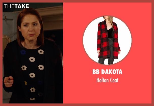 BB Dakota red jacket from Unbreakable Kimmy Schmidt seen with Kimmy Schmidt (Ellie Kemper)