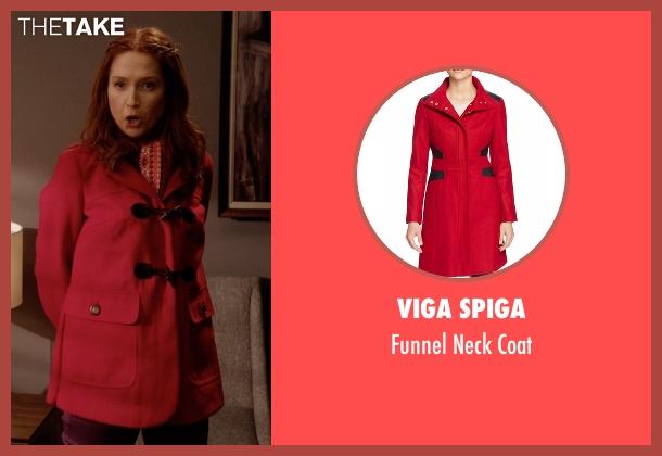 Viga Spiga red coat from Unbreakable Kimmy Schmidt seen with Kimmy Schmidt (Ellie Kemper)