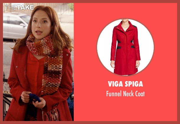 Tommy Hilfiger red coat from Unbreakable Kimmy Schmidt seen with Kimmy Schmidt (Ellie Kemper)