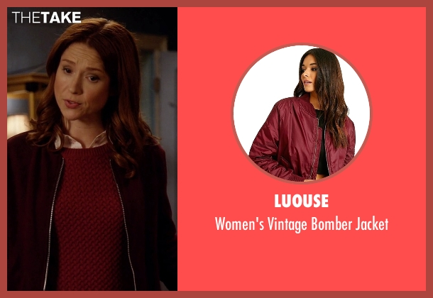Luouse  red jacket from Unbreakable Kimmy Schmidt seen with Kimmy Schmidt (Ellie Kemper)