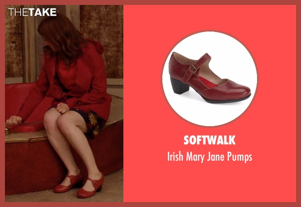 Softwalk red jane pumps from Unbreakable Kimmy Schmidt seen with Kimmy Schmidt (Ellie Kemper)