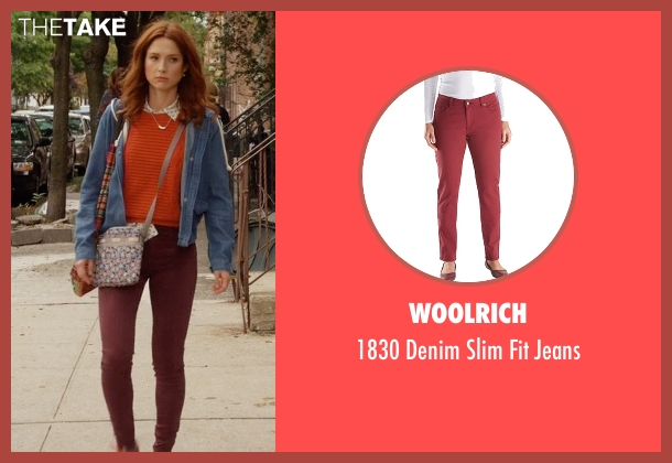 Woolrich red jeans from Unbreakable Kimmy Schmidt seen with Kimmy Schmidt (Ellie Kemper)