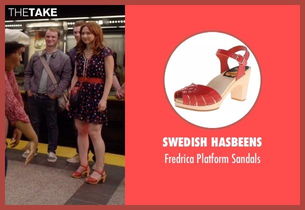 Swedish Hasbeens red sandals from Unbreakable Kimmy Schmidt seen with Kimmy Schmidt (Ellie Kemper)