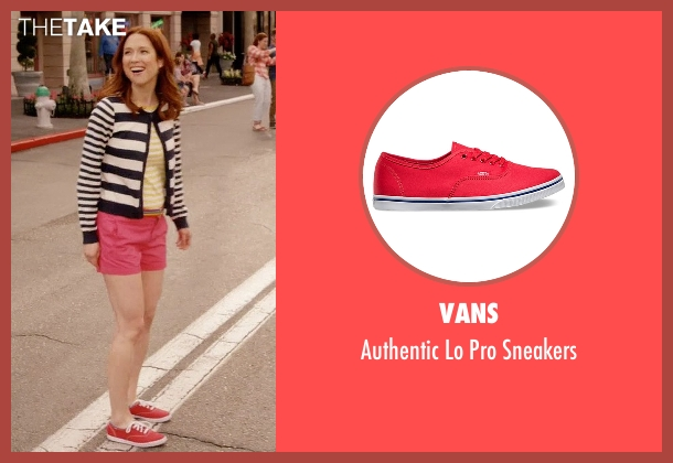 Vans red sneakers from Unbreakable Kimmy Schmidt seen with Kimmy Schmidt (Ellie Kemper)