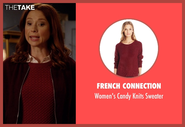 French Connection red sweater from Unbreakable Kimmy Schmidt seen with Kimmy Schmidt (Ellie Kemper)