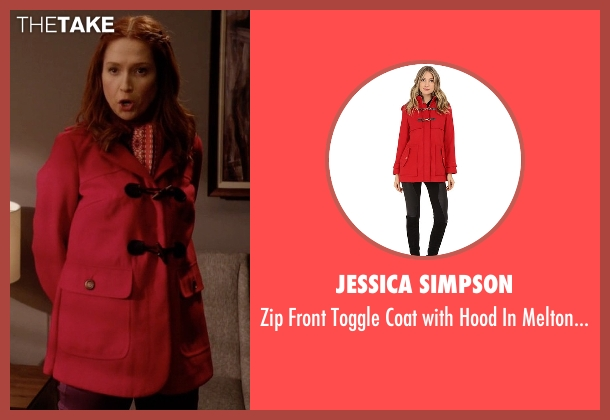 Jessica Simpson red touch from Unbreakable Kimmy Schmidt seen with Kimmy Schmidt (Ellie Kemper)