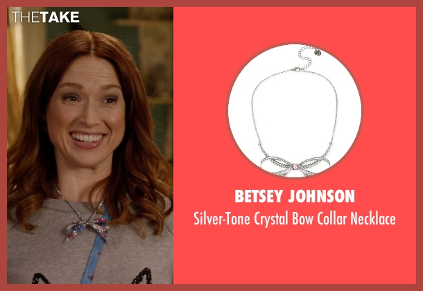 Betsey Johnson  silver necklace from Unbreakable Kimmy Schmidt seen with Kimmy Schmidt (Ellie Kemper)
