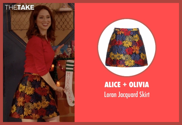 Alice + Olivia skirt from Unbreakable Kimmy Schmidt seen with Kimmy Schmidt (Ellie Kemper)