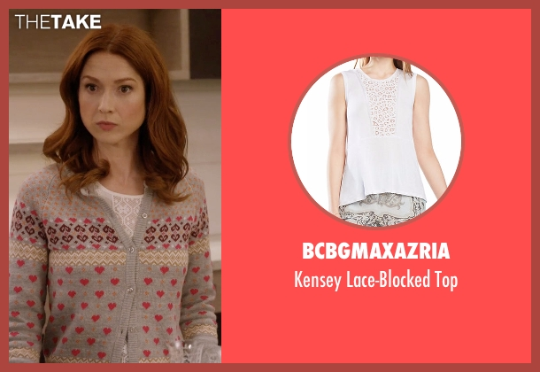 BCBGMAXAZRIA white top from Unbreakable Kimmy Schmidt seen with Kimmy Schmidt (Ellie Kemper)