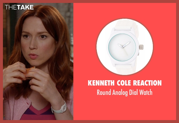 Kenneth Cole Reaction white watch from Unbreakable Kimmy Schmidt seen with Kimmy Schmidt (Ellie Kemper)